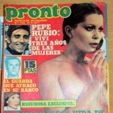Coleccionismo de Revista Pronto: PRONTO 258 MARIA JOSE CANTUDO PEPE RUBIO BARBARA REY POSTER ROBERT URICH CHARLES BRONSON . Lote 95084475