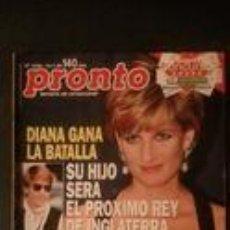 Coleccionismo de Revista Pronto: PRONTO 1236-1996-LADY DI-ROCIO JURADO-RAPHAEL-LOLA FLORES-ANA OBREGON-JORGE CADAVAL-ROBERT REDFORD . Lote 95122103