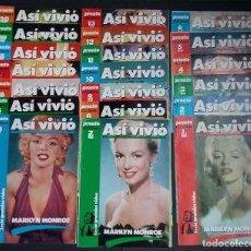 Coleccionismo de Revista Pronto: ASI VIVIÓ MARILYN MONROE - PRONTO - ENTREGABLE COMPLETO DE 20 FASCÍCULOS. Lote 95352495