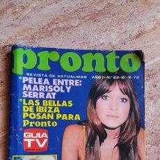 Coleccionismo de Revista Pronto: REVISTA PRONTO 23 DE 1972 MARISOL MARILYN LOLA FLORES ROSARIO. Lote 95481226