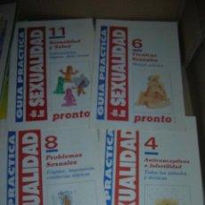 Coleccionismo de Revista Pronto: LOTE DE 4 FASCÍCULOS COLECCIÓN PRONTO. GUÍA PRÁCTICA DE LA SEXUALIDAD. Nº 4, 6 ,8 Y 11.. Lote 95706383