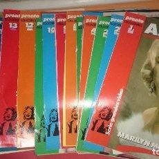 Coleccionismo de Revista Pronto: COLECCIONABLE ASI VIVIO MARILYN MONROE . Lote 95768099