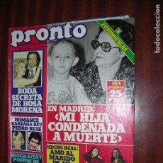 Coleccionismo de Revista Pronto: (F.) REVISTA PRONTO Nº304 AÑO 1978 ( POSTER DE RORY ARMANGH). Lote 95809867