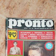 Coleccionismo de Revista Pronto: REVISTA PRONTO 1972 DALÍ SERRAT CECILIA JEANETTE. Lote 95984979