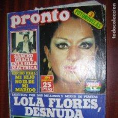 Coleccionismo de Revista Pronto: (F.1) REVISTA PRONTO Nº 309 AÑO 1978 ( ENTREVISTA A MATIAS PRATS NO ENTRE POR ENCHUFE EN T.V.E. ). Lote 96055711