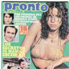 Coleccionismo de Revista Pronto: PRONTO Nº 216 2/7/1976 - LAS GRECAS UNICAS FOTO SEXI - NADIUSKA - ROCIO DURCAL - ..... Lote 96461963