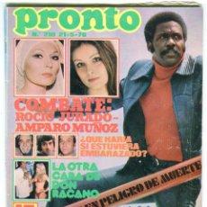 Coleccionismo de Revista Pronto: PRONTO Nº 210 21/5/1976 - DON RACANO UN,DOS, TRES - IÑIGO - TONY RONALD - MARIA DURAN AZAFATA. Lote 96473839