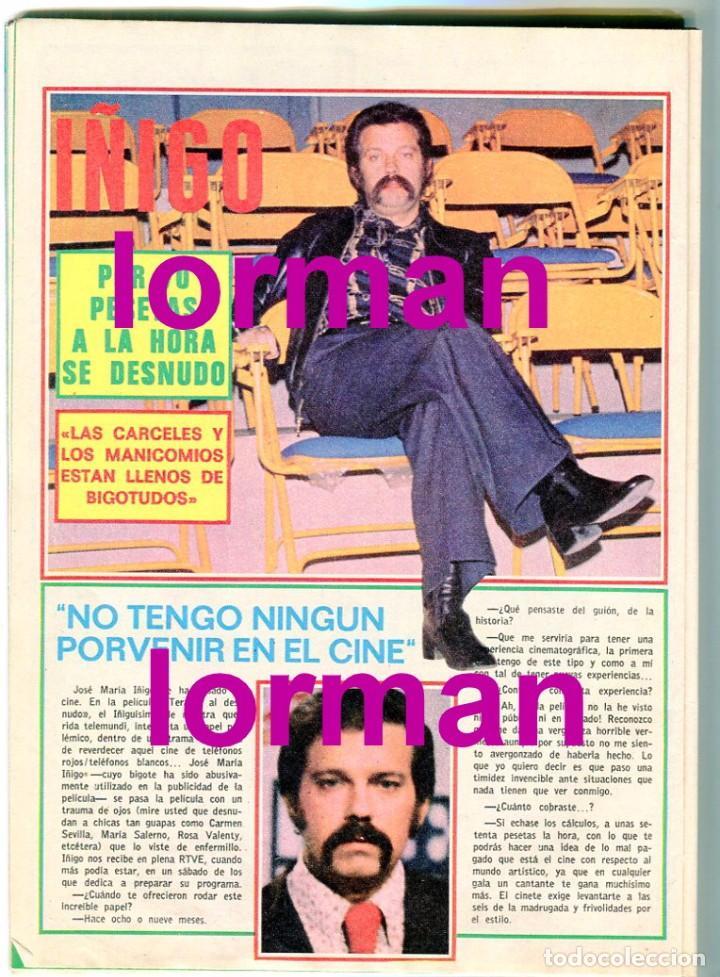 Coleccionismo de Revista Pronto: PRONTO Nº 210 21/5/1976 - DON RACANO UN,DOS, TRES - IÑIGO - TONY RONALD - MARIA DURAN AZAFATA - Foto 2 - 96473839