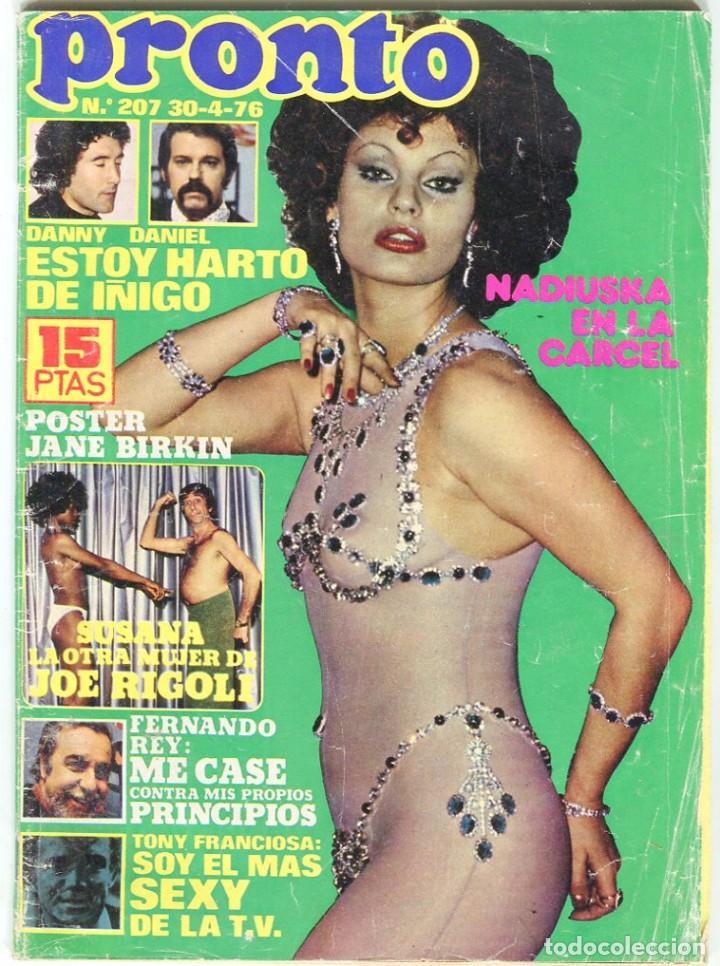 PRONTO Nº 207 30/4/1976 -VICTORIA VERA-CARMEN CERVERA-LA HORA DE...--CAMILO SESTO-POSTER JANE BIRKIN (Papel - Revistas y Periódicos Modernos (a partir de 1.940) - Revista Pronto)