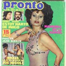 Coleccionismo de Revista Pronto: PRONTO Nº 207 30/4/1976 -VICTORIA VERA-CARMEN CERVERA-LA HORA DE...--CAMILO SESTO-POSTER JANE BIRKIN. Lote 96700611