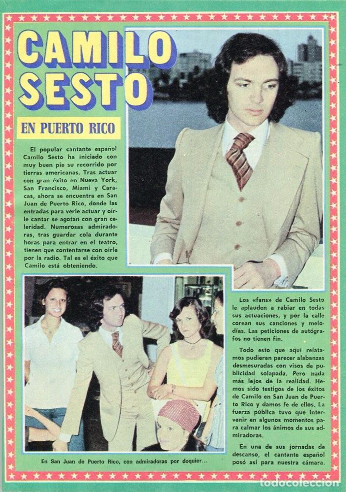 Coleccionismo de Revista Pronto: PRONTO Nº 207 30/4/1976 -VICTORIA VERA-CARMEN CERVERA-LA HORA DE...--CAMILO SESTO-POSTER JANE BIRKIN - Foto 5 - 96700611