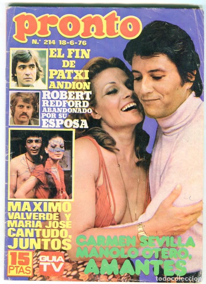 PRONTO Nº 214 88/6/1976 -ROLLING STONES-KARINA-AGATA LYS-UN DOS,TRES.. VICTORIA ABRIL-PEPE SACRISTAN (Papel - Revistas y Periódicos Modernos (a partir de 1.940) - Revista Pronto)