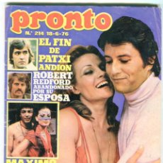 Coleccionismo de Revista Pronto: PRONTO Nº 214 88/6/1976 -ROLLING STONES-KARINA-AGATA LYS-UN DOS,TRES.. VICTORIA ABRIL-PEPE SACRISTAN. Lote 96704715