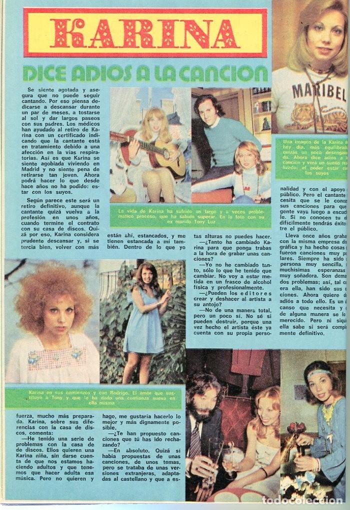Coleccionismo de Revista Pronto: PRONTO Nº 214 88/6/1976 -ROLLING STONES-KARINA-AGATA LYS-UN DOS,TRES.. VICTORIA ABRIL-PEPE SACRISTAN - Foto 3 - 96704715