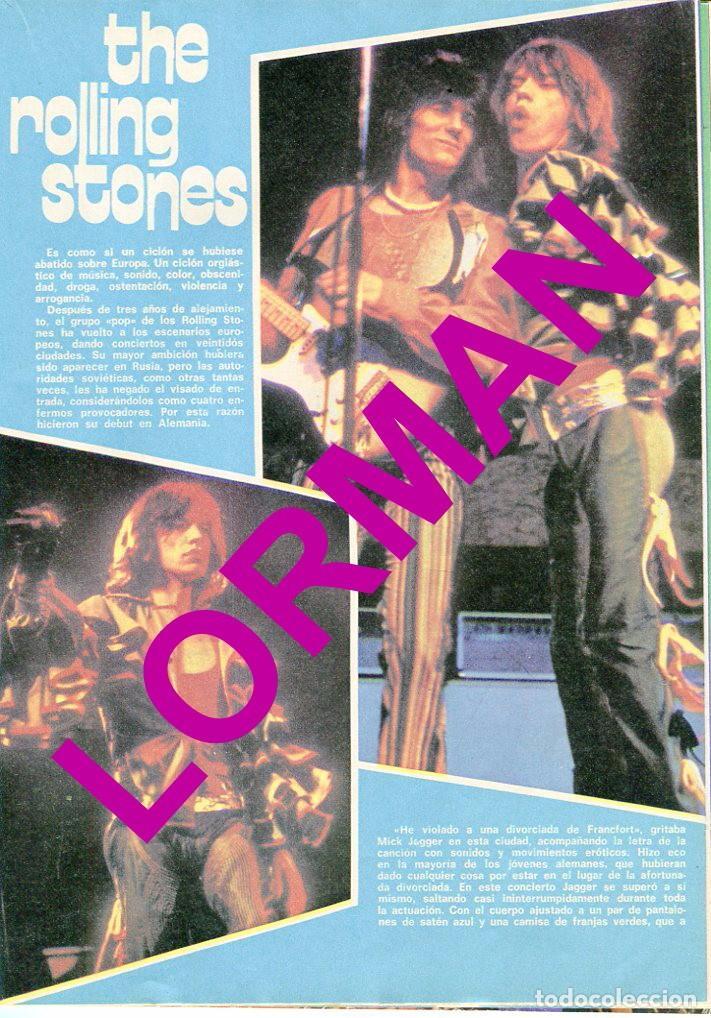 Coleccionismo de Revista Pronto: PRONTO Nº 214 88/6/1976 -ROLLING STONES-KARINA-AGATA LYS-UN DOS,TRES.. VICTORIA ABRIL-PEPE SACRISTAN - Foto 4 - 96704715