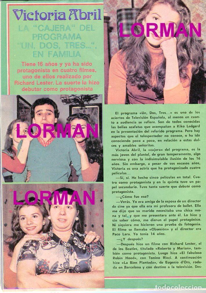 Coleccionismo de Revista Pronto: PRONTO Nº 214 88/6/1976 -ROLLING STONES-KARINA-AGATA LYS-UN DOS,TRES.. VICTORIA ABRIL-PEPE SACRISTAN - Foto 6 - 96704715