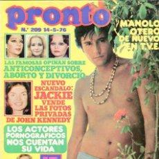 Coleccionismo de Revista Pronto: PRONTO Nº 214 8/6/1976 -UN,DOS,TRES...MARIA CASAL-CONCHA VELASCO-NIEVES SALCEDO-BANACEK G. PEPPARD.. Lote 96709063