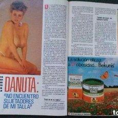Coleccionismo de Revista Pronto: DANUTA LATO. RECORTE REVISTA. Lote 97068155