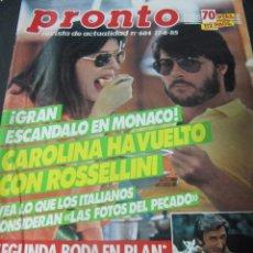 Coleccionismo de Revista Pronto: REVISTA PRONTO 6/85 PLAN LADY DIANA PAJARES MARIA CASANOVA STEVE MCQUEEN FRANCISCO . Lote 97753258