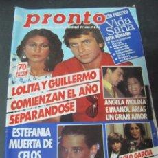 PRONTO 1/85 MECANO ANGELA MOLINA GRETA GARBO LOLO GARCIA CONCHA VELASCO MARI TRINI CHUNGITOS