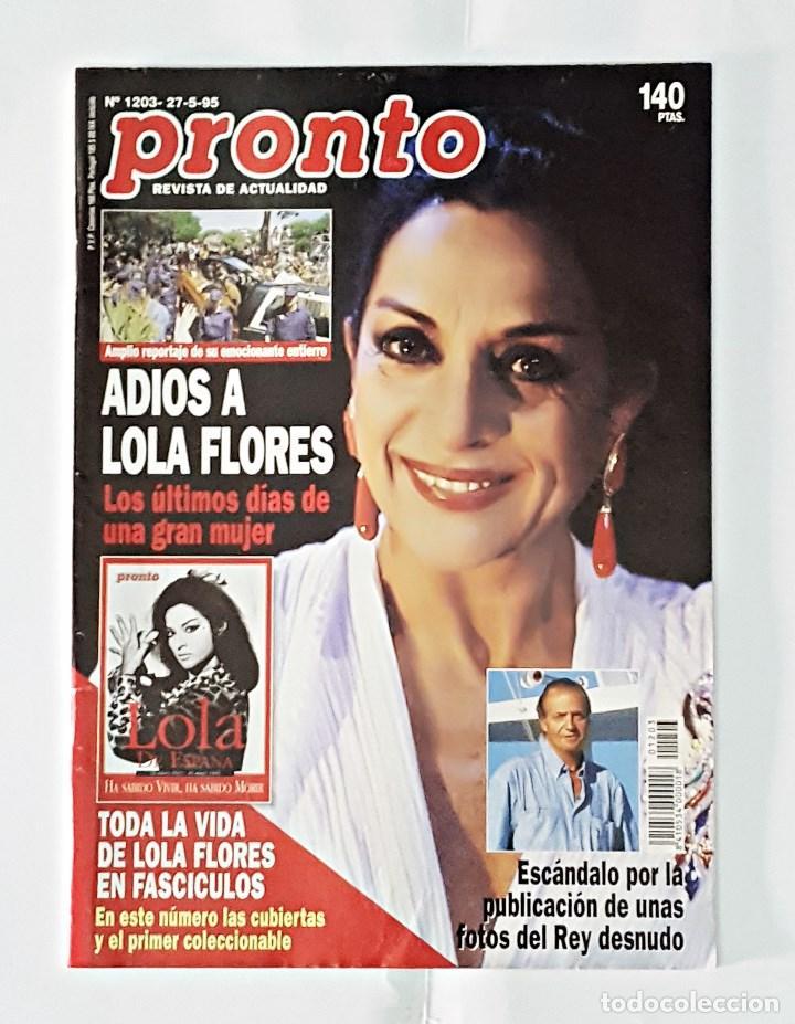 REVISTA PRONTO AÑO 1995 NUMERO 1203 (Papel - Revistas y Periódicos Modernos (a partir de 1.940) - Revista Pronto)
