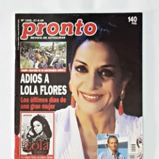 Coleccionismo de Revista Pronto: REVISTA PRONTO AÑO 1995 NUMERO 1203 . Lote 98202267