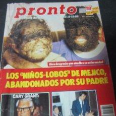 Coleccionismo de Revista Pronto: PRONTO 12/86 HOMBRES G PAOLA DOMINGUIN ANA ALICIA FALCON CREST CARY GRANT EL FARY . Lote 99198055