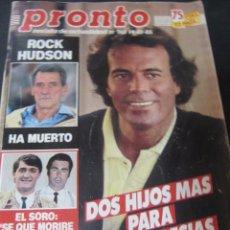 Coleccionismo de Revista Pronto: PRONTO 10/85 MARISOL EL SORO MENUDO ISABEL PANTOJA ROCIO DURCAL BERTIN OSBORNE MENUDO ANA BELEN. Lote 99198539
