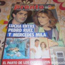 Coleccionismo de Revista Pronto: PRONTO - 9 -6 -1986 - ANA OBREGON 4F -2P. Lote 100748907