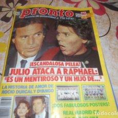 Coleccionismo de Revista Pronto: PRONTO - 7 -2 -1987 - ROCIO DURCAL 8F -4P. Lote 100749383