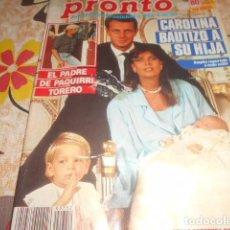 Coleccionismo de Revista Pronto: PRONTO - 4 -10 -1986 - ANA OBREGON 3F -2P. Lote 100750455