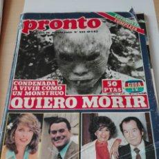 Coleccionismo de Revista Pronto: REVISTA PRONTO NUM 52 MAYO 1982. Lote 103207599