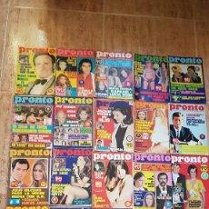 Coleccionismo de Revista Pronto: 22 REVISTAS PRONTO 1972 CARMEN SEVILLA JUNIOR JULIO IGLESIAS TV MIGUEL RIOS JEANETTE MANOLO ESCOBAR. Lote 103785091