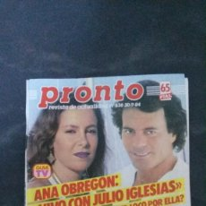 Coleccionismo de Revista Pronto: PRONTO-1984-ANA OBREGON-JULIO IGLESIAS-AMPARO MUÑOZ-ESTEFANIA-MICHAEL JACKSON-ROSARIO FLORES . Lote 104634811