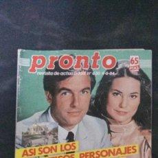 Coleccionismo de Revista Pronto: PRONTO 630-1984-SARA MONTIEL-PECOS-ANA OBREGON-JOAN COLLINS-RAPHAEL-MICHAEL JACKSON. Lote 104638867