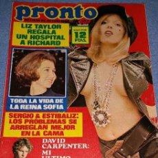 Coleccionismo de Revista Pronto: PRONTO / SUSANA ESTRADA, LOS PAYASOS DE LA TELE, SERGIO Y ESTIBALIZ, DAVID CARPENTER, LOLA FLORES. Lote 105614591