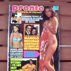 Coleccionismo de Revista Pronto: PRONTO / FELIX RODRIGUEZ DE LA FUENTE, VERONICA MIRIEL, MANOLO ESCOBAR, MARILYN MONROE, URI GELLER,. Lote 106087311