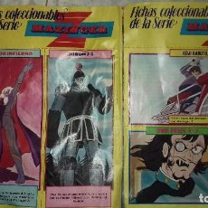 2 antiguas fichas coleccionable mazinger z revista pronto.doctor inferno