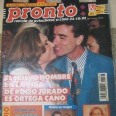 Coleccionismo de Revista Pronto: PRONTO 1992 ENRIQUE PONCE NATALIA ESTRADA HELENA BIANCO CONCHA VELASCO ESPARTACO MIGUEL BOSE THYSSEN. Lote 107671647