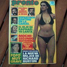 Coleccionismo de Revista Pronto: PALOMA SAN BASILIO, ROCIO DURCAL, CAMILO SESTO, MARISOL & ANTONIO GADES, HELGA LINE, SYLVIE VARTAN. Lote 109540579