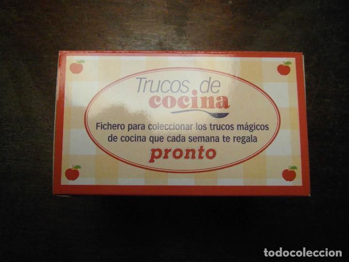 COLECCION FICHAS TRUCOS DE COCINA. REVISTA PRONTO (Papel - Revistas y Periódicos Modernos (a partir de 1.940) - Revista Pronto)