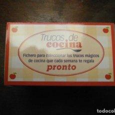 Coleccionismo de Revista Pronto: COLECCION FICHAS TRUCOS DE COCINA. REVISTA PRONTO. Lote 196567436
