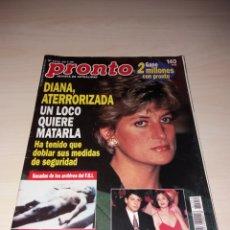 Coleccionismo de Revista Pronto: PRONTO - 29-7-95 - PRINCESA DIANA - CHABELI - MIGUEL INDURÁIN - ÁNGEL CRISTO - FREDDY MERCURY. Lote 112792624