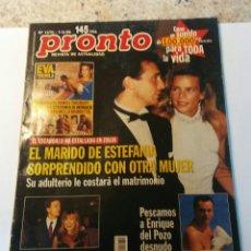Coleccionismo de Revista Pronto: REVISTA PRONTO DEL 96 ESTEFANIA DE MONACO ENRIQUE DEL POZO ETC. Lote 113024227