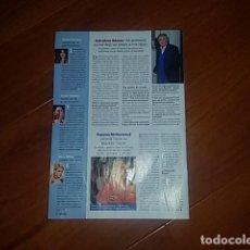 Coleccionismo de Revista Pronto: ADAMO - ISABEL PANTOJA - PARIS HILTON - MONICA BELLUCCI - FRANCES MCDORMAND. Lote 113093571