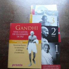 Coleccionismo de Revista Pronto: GANDHI. VIDA Y LUCHA DE UN HOMBRE DE PAZ. PILAR MUÑOZ. COLECCIONABLE REVISTA PRONTO. Lote 113146667