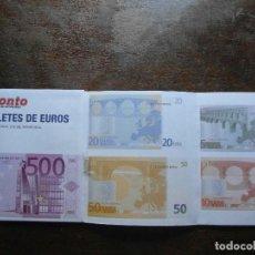 Coleccionismo de Revista Pronto: REVISTA PRONTO. TROQUELES Y FACSIMILES DE MONEDAS Y BILLETES DE EURO. 2001. Lote 113196107