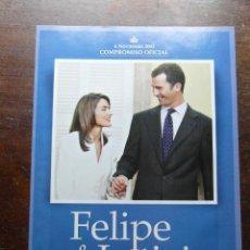 Coleccionismo de Revista Pronto: FELIPE & LETIZIA. LA PETICION DE MANO DE LA FUTURA REINA. REVISTA PRONTO. COMPROMISO OFICIAL. 2003. Lote 113230803
