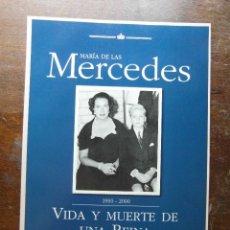 Coleccionismo de Revista Pronto: MARIA DE LAS MERCEDES 1910-2000. VIDA Y MUERTE DE UNA REINA EN LA SOMBRA. REVISTA PRONTO. Lote 113241215