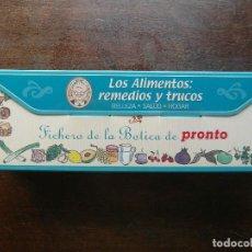 Coleccionismo de Revista Pronto: FICHERO DE LA BOTICA DE PRONTO. LOS ALIMENTOS REMEDIOS Y TRUCOS. BELLEZA, SALUD Y HOGAR. 138 FICHAS. Lote 113249567